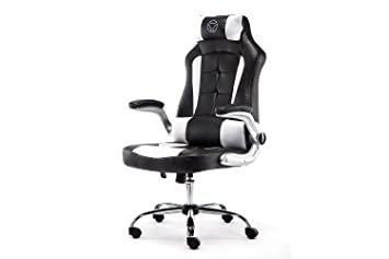 Momo design gc chaise de bureau gaming chair blanc noir
