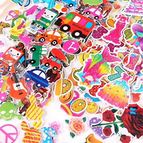 60 Different Sheets 1500+ Novelty 3D Puffy Bulk Stickers , Perfect for Kids Craft Scrapbooking Class Girl Boy Birthday Gift Toddlers-Including Animals, Stars, Fish, Transportations,Flowers,Sports and