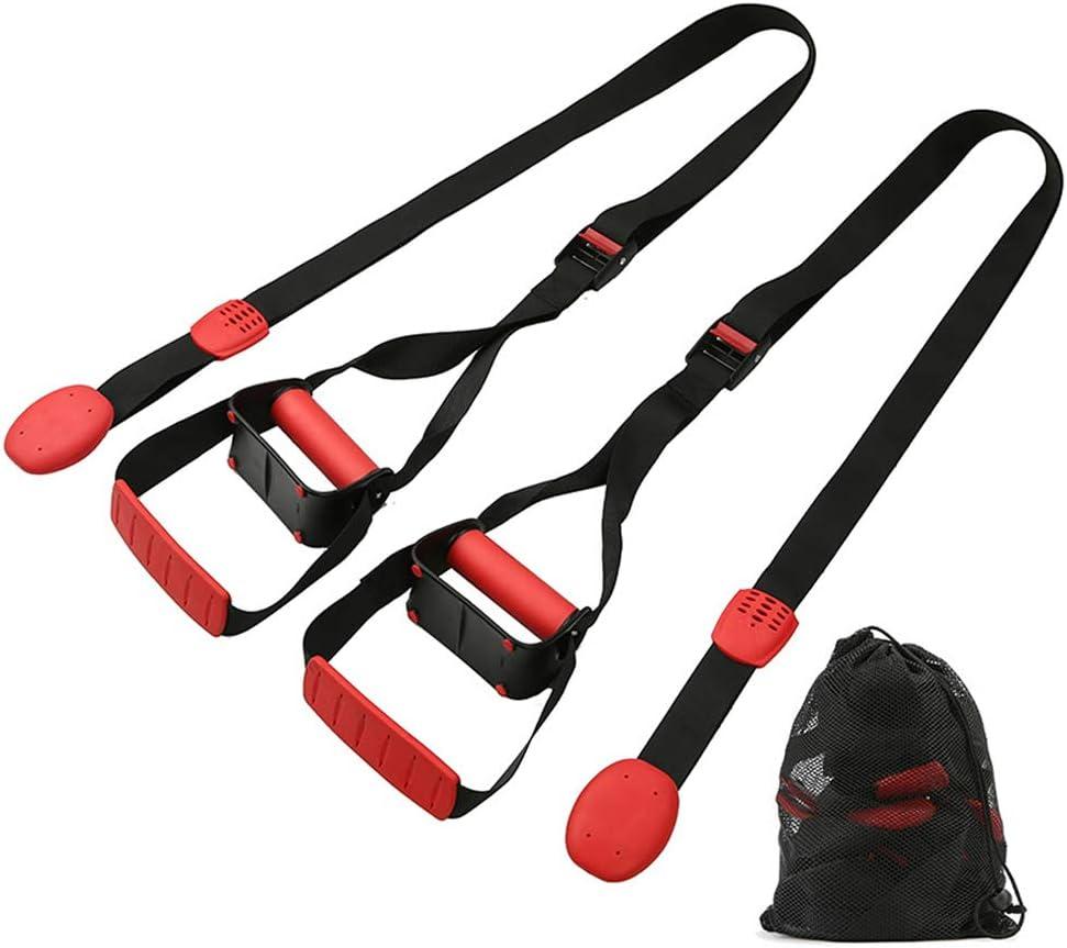 Feishibang Bodyweight Entrenamiento en Suspensión El Kit de Entrenamiento físico Incluye manijas de Empuje hacia Arriba, Correas para el Punto de ...