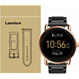 Lamshaw Smartwatch Band for Fossil Q Wander Gen 1/Gen 2,Stainless Steel Metal Replacement Straps for Fossil Q Wander Smartwatch (Black)