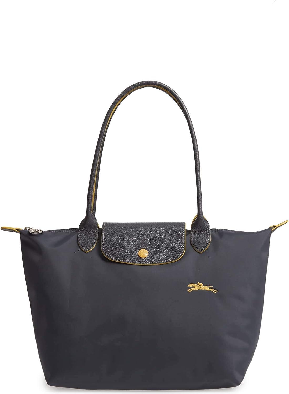 Longchamp 'Le Pliage Club' Sac à bandoulière en nylon Gris métal Taille M