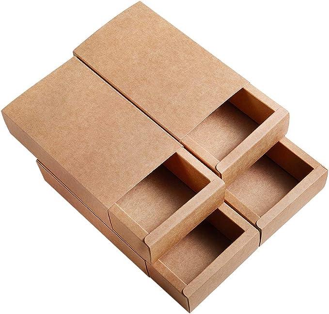 BENECREAT 16 Pack Caja de Cartón Kraft Cajas de Regalo para Fiesta Superior Envase de Joyería - Marrón 17.2x10.2x4.2cm: Amazon.es: Juguetes y juegos