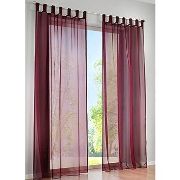 Kou Deco Rideau Voilage à Pattes 1pc Décoration Transparent De
