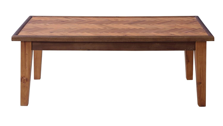 東谷(Azumaya-kk) センターテーブル ブラウン W110xD55xH41 ヘリンボーン GT-872 B078SX2SHP