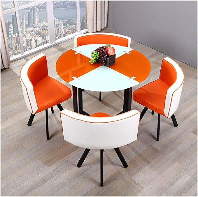 """55/"""" Living Room Table for 4//6 Persons Minimalist Kitchen Table with Stainless Steel Metal Legs Black Modern Rectangle Tempered Glass Dining Table"""