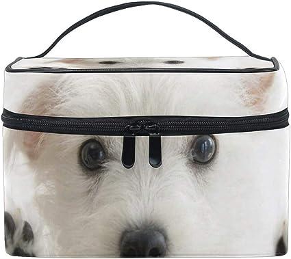 FANTAZIO bolsa de maquillaje barato lindo perro cachorro organizador de maquillaje: Amazon.es: Belleza
