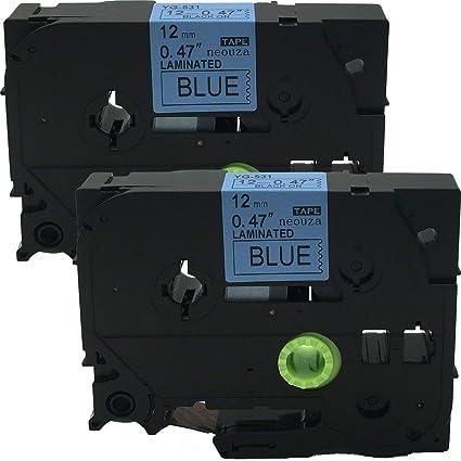 Brother TZe-531 Negro sobre azul TZe cinta para impresora de ...