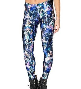Modern Women Leggings VILLAINS Print Legging Punk Gym Clothes Galaxy ... dc33dd8df7