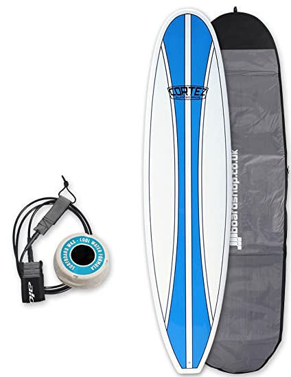 Cortez Funboard tabla de surf paquete 7 pies 6, color azul