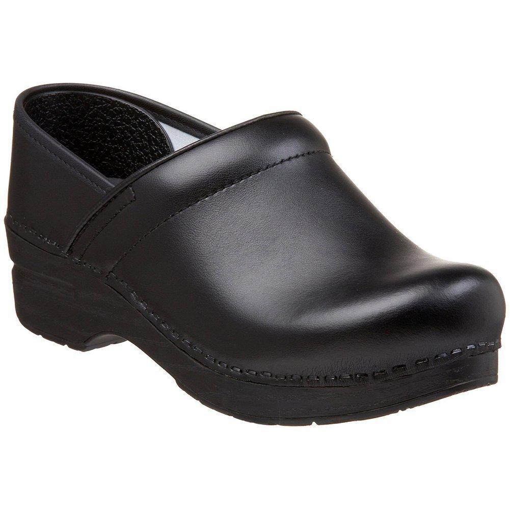 Dansko Women's Wide Professional Clog Black Box Leather Size 36 EU (5.5-6 M US Women)