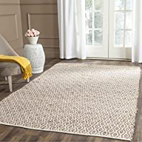 Safavieh Cape Cod Collection CAP821I Hand Woven Geometric Natural Jute and Cotton Area Rug (6 x 9)