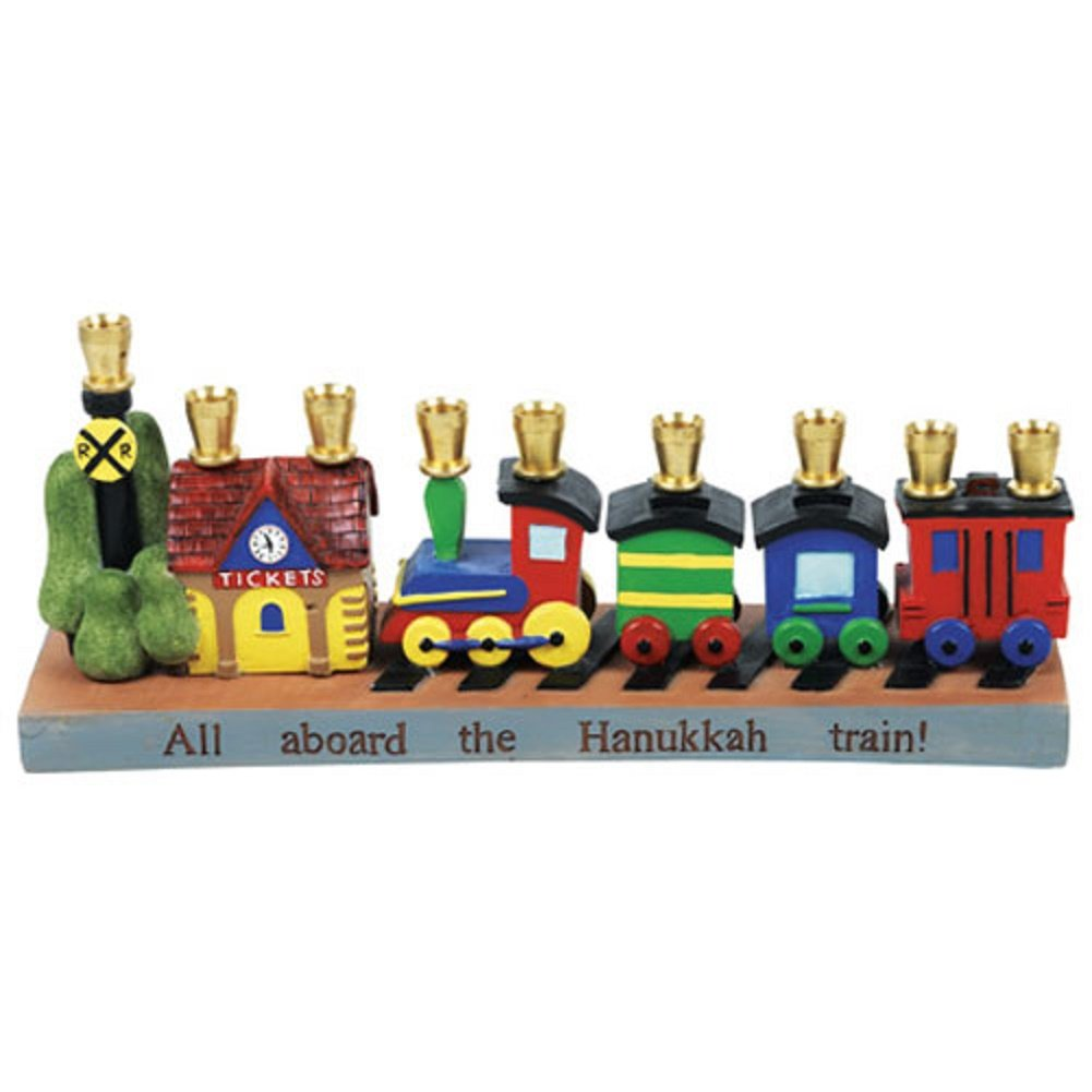 Aviv Judaica 23982 Railroad Menorah, White