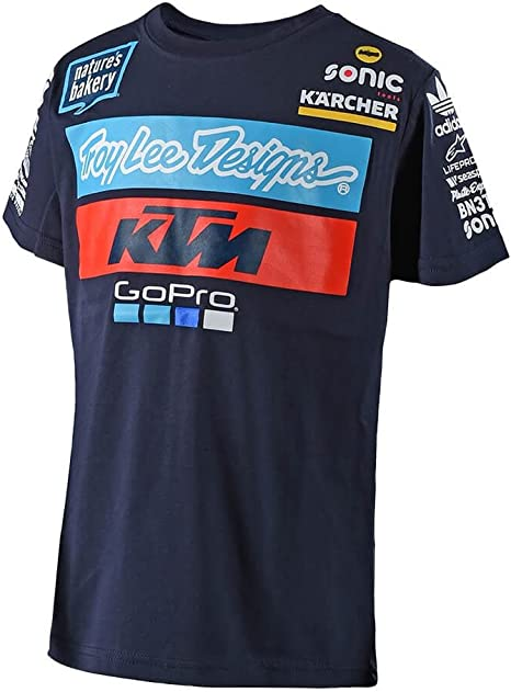 Troy Lee Designs Big Boys 2018 KTM Team Short-Sleeve Shirts