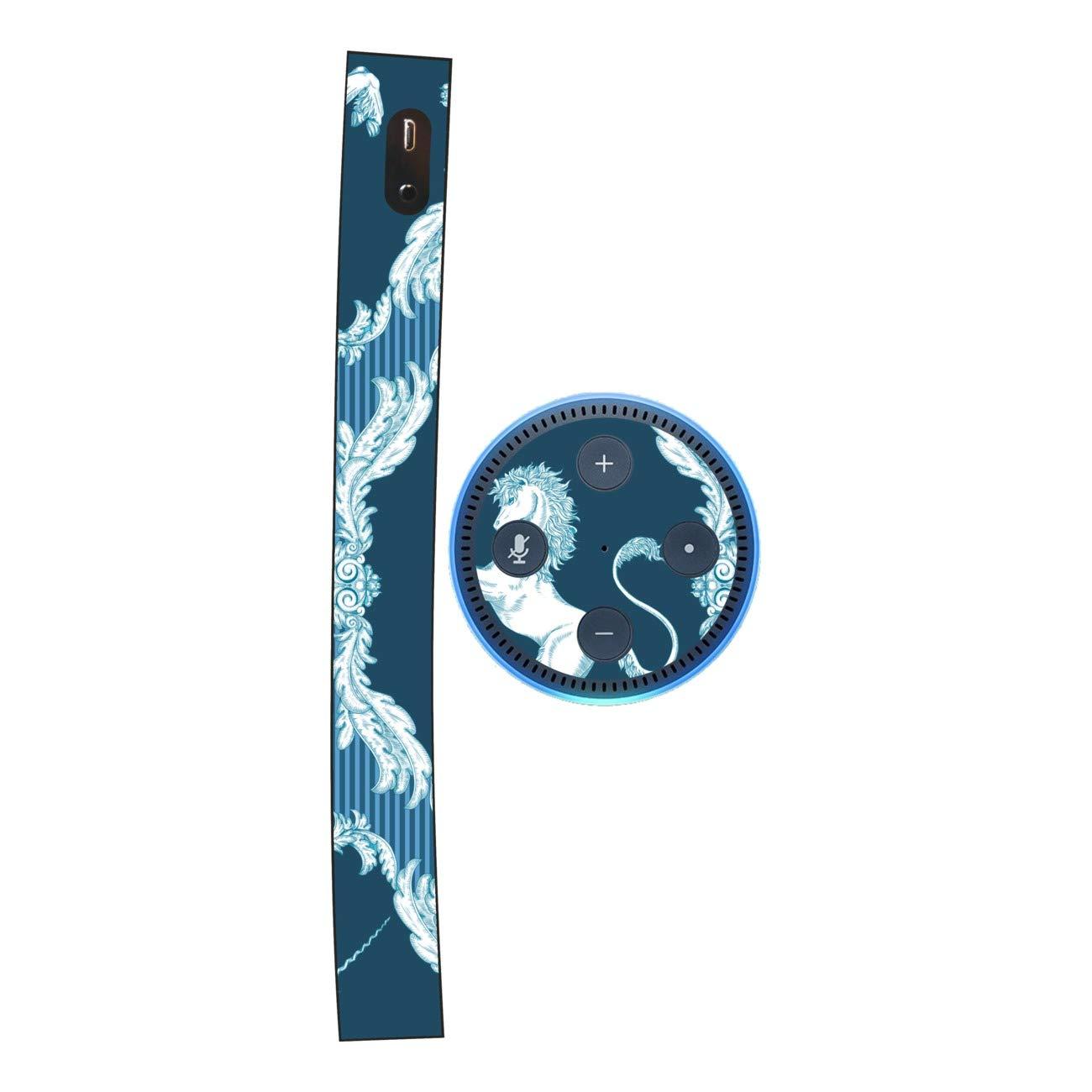 DISAGU SF SDI 5436_ 1132Design Schermo per  Echo DOT–Motivo Classico Unicorno Motivo a Strisce Blu SF-sdi-5436_1132