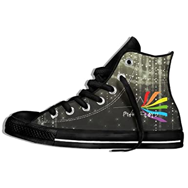 Forest Station Pink Floyd Wallpapers High Top Classic Canvas Fashion Shoes Trainers Sneakers