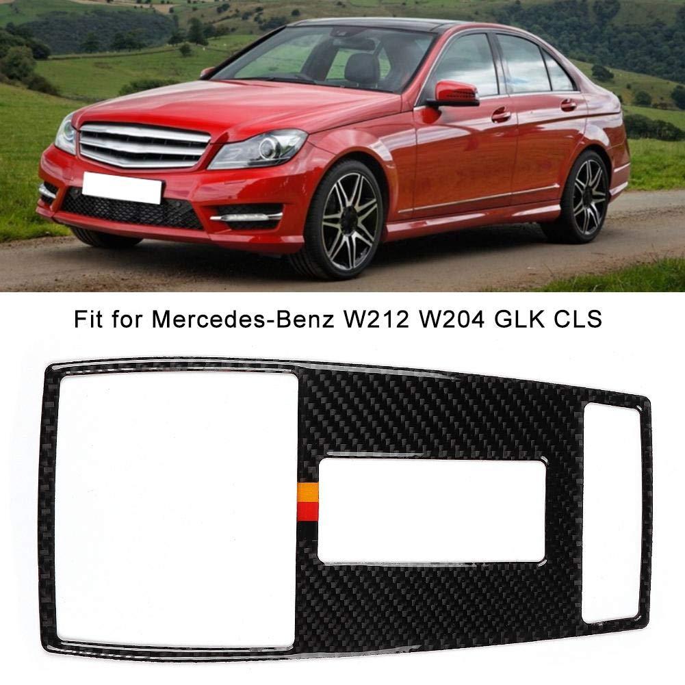 Aramox /Écran de lampe de lecture voiture en fibre de carbone /Écran de lumi/ère pour panneau de commande de couverture pour cadre de montage adapt/é pour W212 W204 GLK CLS