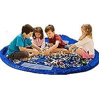 Ferryman Leksaksförvaringsväska, 152,4 cm hopfällbar leksaksorganisatör för hem och utomhus, bärbar för LEGO byggstenar…