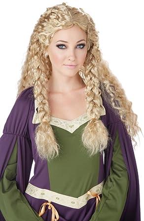 Générique California Disfraz – pe874 – Peluca Princesa Viking