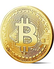ANOX-92 Bitcoin Physical Collectors Coin, Gold Plated BTC Collectible Coin Edition, Blockchain Cryptocurrency (40*3mm)
