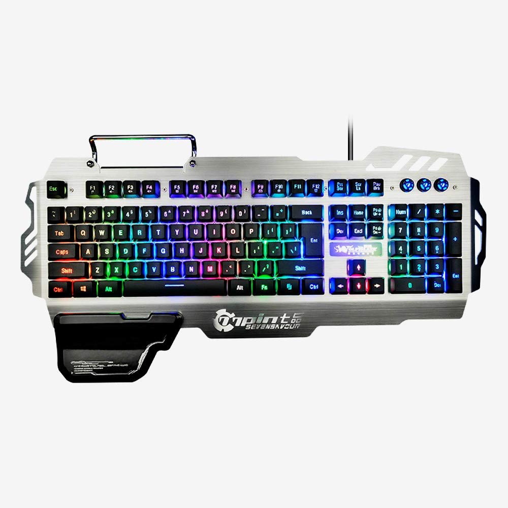 New Fashion Brand PK-900 Colorful Backlight Gaming Keyboard 104 Keys Waterproof ABS Material Keyboard for PC Laptop