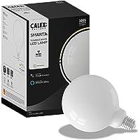 Calex Smart Home - Wifi Led lamp - Globe Titanium - Ø125mm - White ambience - E27 fitting Energielabel G