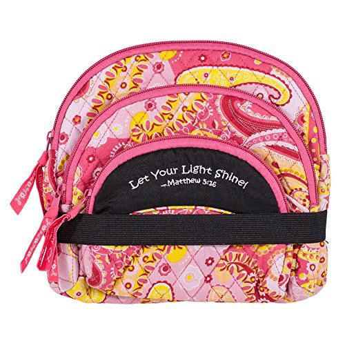 Quilted Resistant Embroidered Scripture Cosmetic