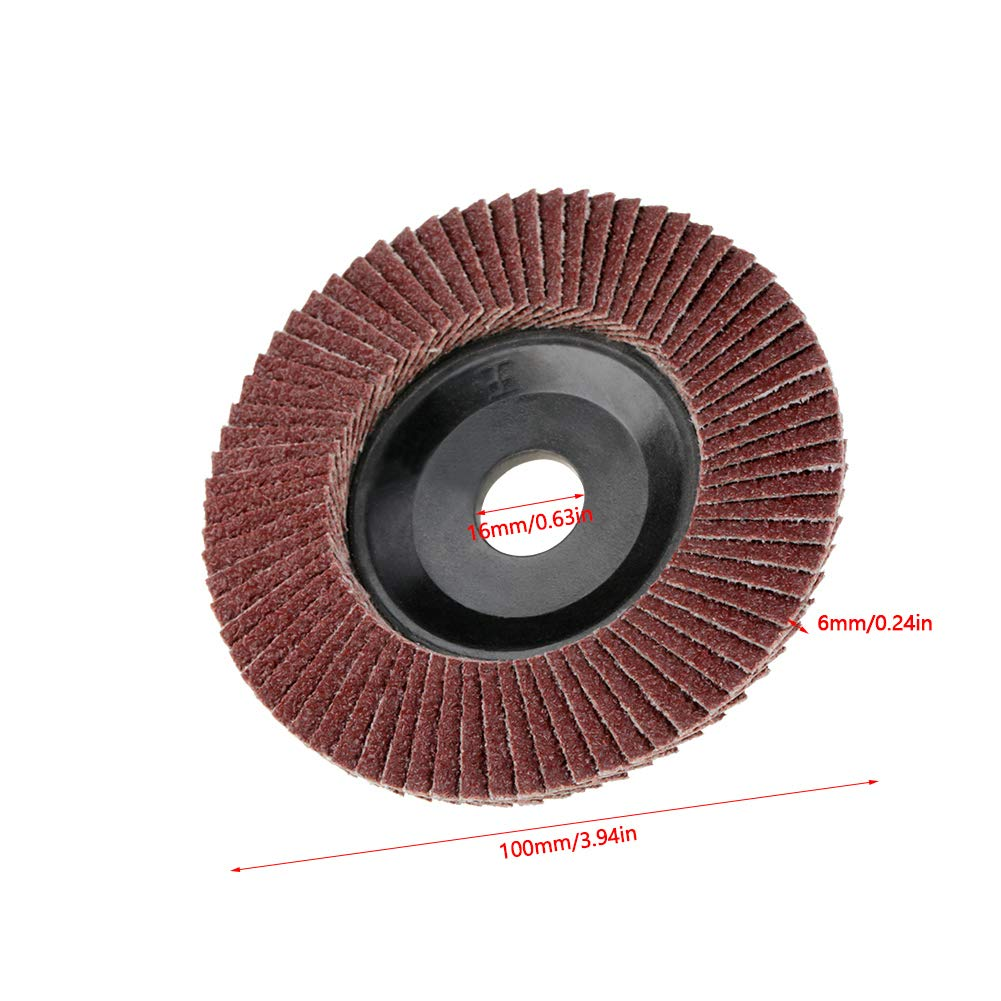 60 Grit Grinding Sanding Wheel Flap Disc Polishing Wheel for Workshop Builders DIY etc. 10 Pcs//Set Grinding Wheel