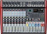 MUSYSIC Professional 10 Channel 4800W Power Mixer 24-bit FX Processor MU-P210fx