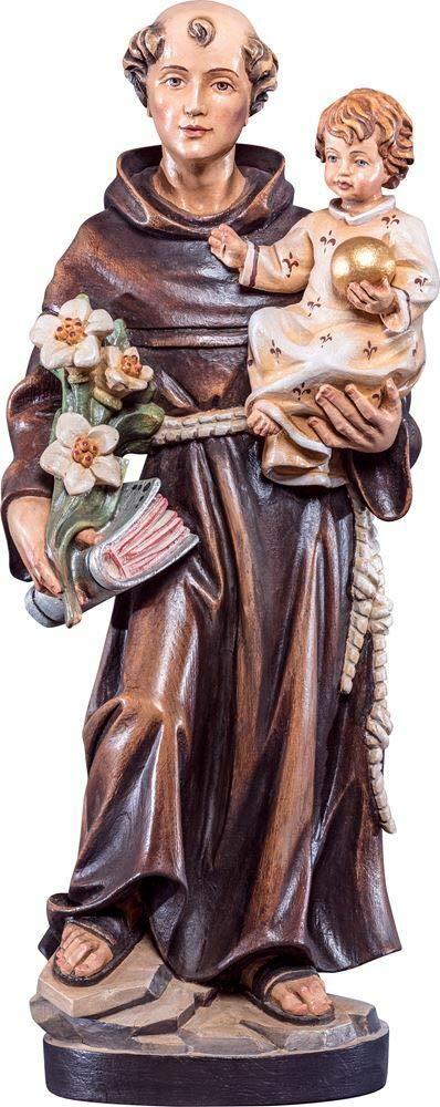 Holzschnitzerei Oswald Amort HL. Antonius   85 cm   Natur - Unbemalt Antik 60 cm