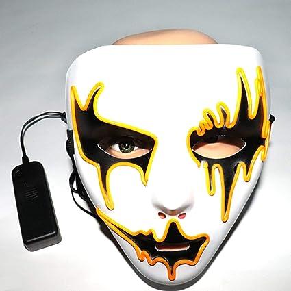 Máscara de Halloween Máscaras LED luz del Resplandor máscara de Miedo hasta Cosplay Máscara Resplandor en