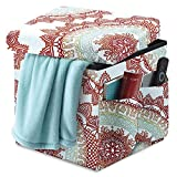 Anthology Beautifully Stylish & Conveniently Handy Folding Storage Ottoman w/ 2 Outside Pockets in Bungalow (1) For Sale