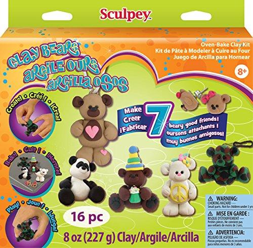 Polyform Sculpey Clay Activity Kit, Clay Bears K34091