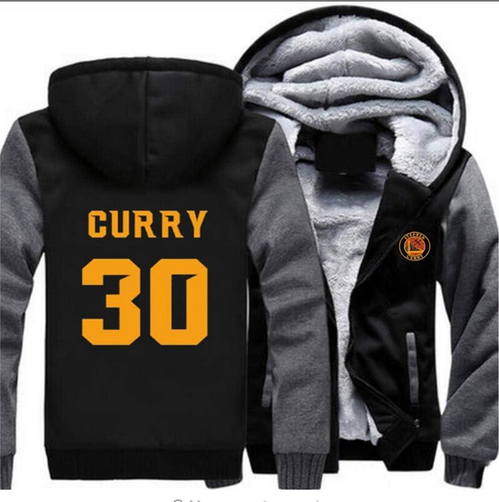 LLYLL Basketball Hoodie Jersey Krieger Stephen Curry Pullover Kleidung Langarm-T-Shirt gedruckt Kapuzenoberteil Plus Samt Winter Hoodie,B,M