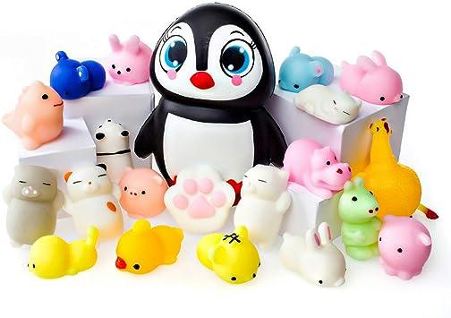 Juguetes Mochi Squishys - Pack De 20 Squishys Y 1 Squishi Pingüino ...