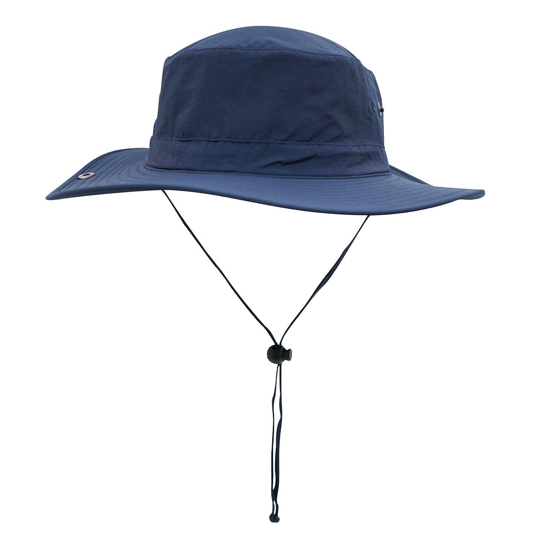 connectyle exterior Cowboy Sombrero Ancha Ala Ancha Sombrero Cubo Sombreros de pesca verano Sombrero de cuerda 884a8e
