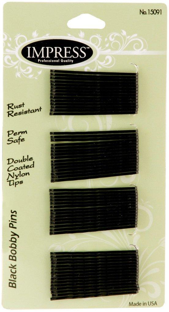 Impress 60-piece Black Bobby Pins (288-ct case) 288 pcs sku# 1870437MA