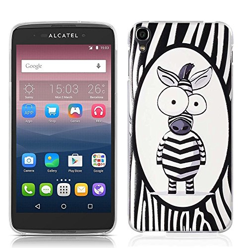 Alcatel One Touch Idol 3 5.5 inch Case, Tomyou 3D Emboss Pattern Beautiful Flower TPU Soft Case Rubber Silicone Skin Cover for Alcatel One Touch 3 5.5 inch