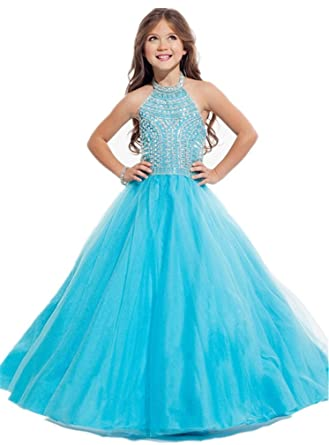 ab70eea79be Amazon.com  Nube 2017 New Style Flower Girls Dress For 2-14 Years  Clothing