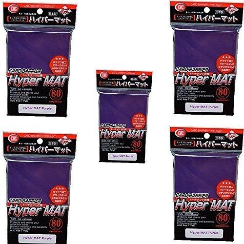 KMC Hyper Matte Sleeves Purple 5 Sets (5 Packs/total 400 Sheets) (Japan Import) Made in Japan
