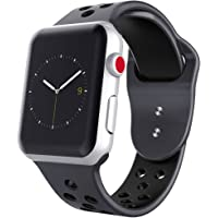 HILIMNY Sports Compatible Apple Watch Band,Soft Silicone Sport Band Replacement Wrist Strap Apple iwatch Series 1/2/3,Nike+,Sport,Edition,38mm,42mm,S/M,M/L Size