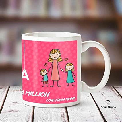 Huppme Personalized Mum In A One Million White Mug 350 Ml Mothers Day