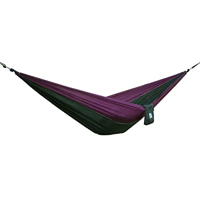 OuterEQ Portable Parachute Camping Hammocks Lightweight Nylon Fabric Travel Hammock: Sports & Outdoors