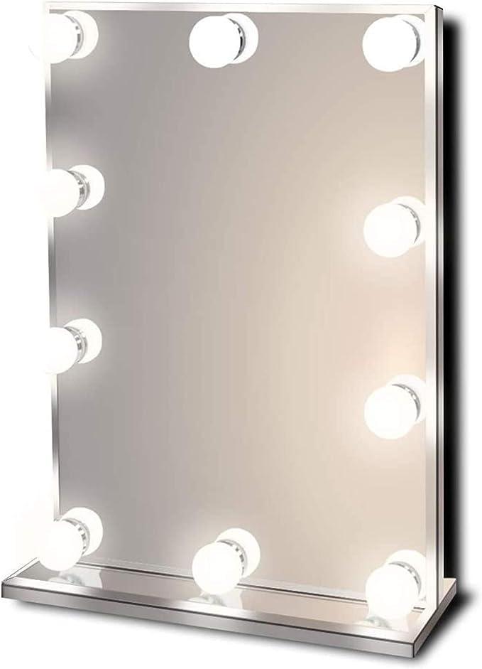 Diamond X Wallmount Hollywood Makeup Mirror with Cool White LED k412CWaud