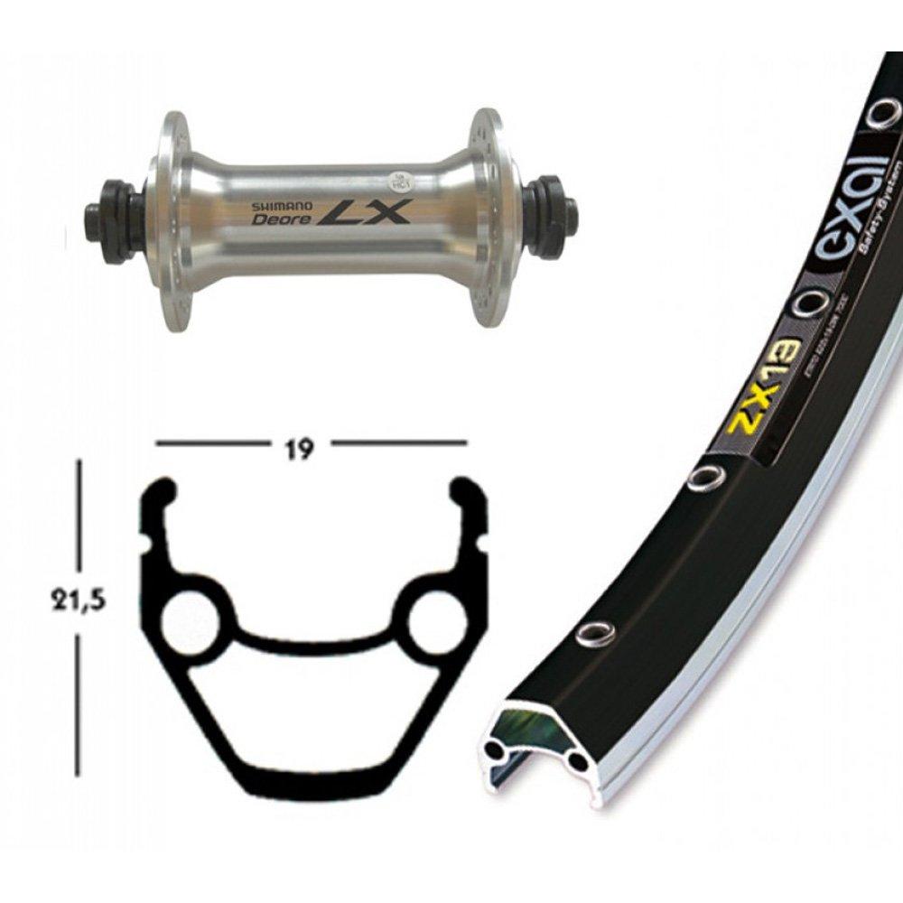 Bike-Parts 28´´ Vorderrad Exal ZX 19 + Shimano Deore LX (QR)