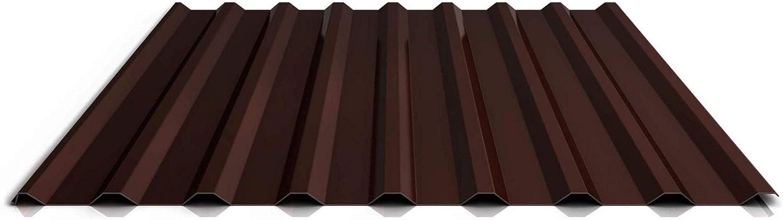 St/ärke 0,45 mm Trapezblech Material Stahl Profil PS20//1100TR Dachblech Beschichtung 25 /µm Profilblech Farbe Rotbraun