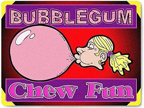 funny retro candy shop plaque kitchen decor 165 Bubble gum machine METAL SIGN