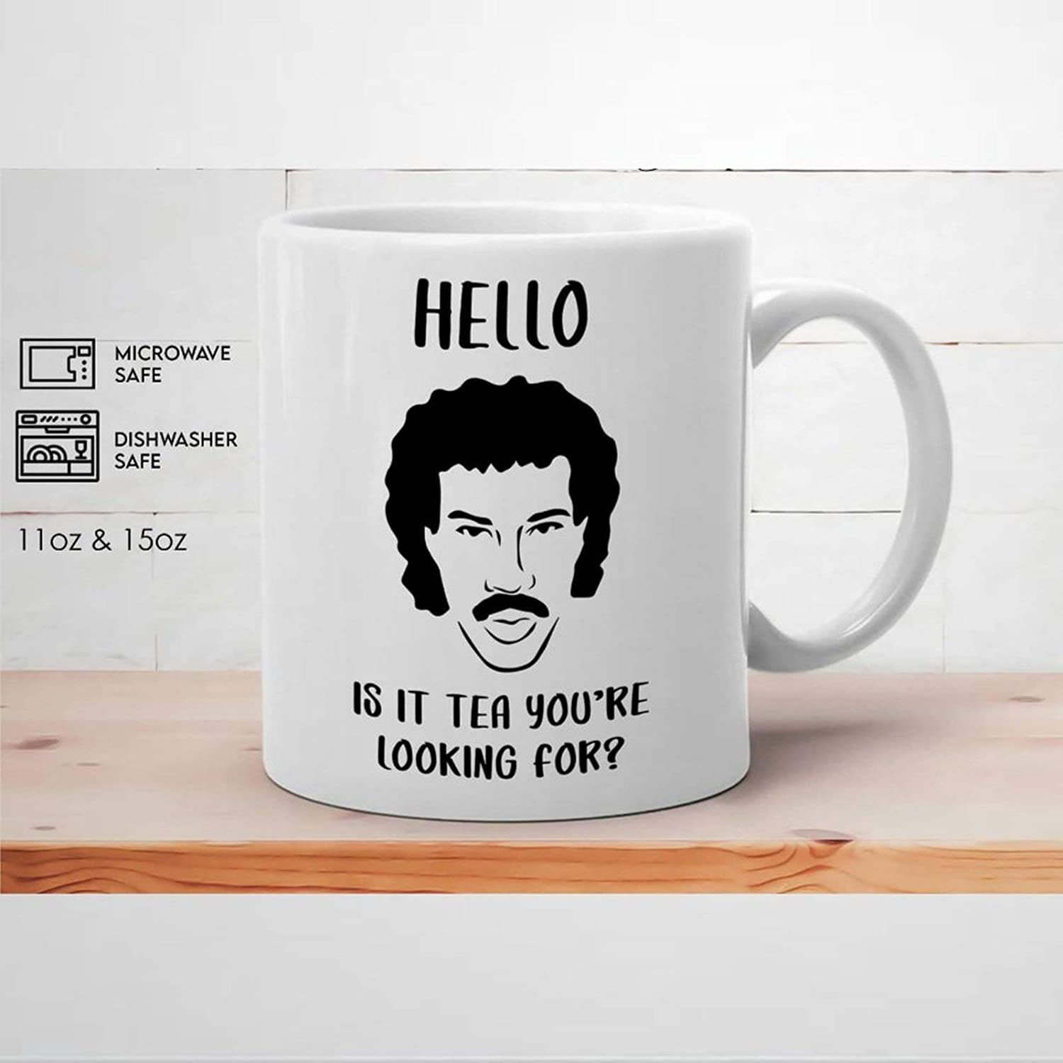 Hello is It Tea You're Looking for Funny Coffee Mug Funny L-ionel R-ichie Ceramic Mug Tea Cup Birthday Presents for Men Women