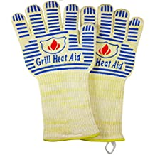 """Extreme Heat BB Grill Gloves for Baking, Grilling, & Oven Use – Protection Up To 932°, 14"""" Long"""