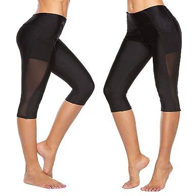 Pantalones Yoga Mujeres Mallas Deportivas Mujer Malla de ...