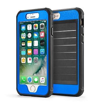 CLOUDSTOO Funda iPhone 7 Plus/ 8 Plus 360° Integral para Ambas Caras [Gratis Protector de Pantalla de Vidrio Templado]-(Azul/Negro)